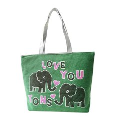 Amart Eephant Canvas Handbag Preppy Women's Handbags Cute Bags - INTL