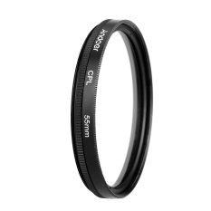 Andoer 55mm Digital Slim CPL Circular Polarizer Polarizing Glass Filter For DSLR Camera Lens - Intl