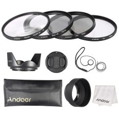 Andoer 72mm Lens Filter Kit (UV + CPL + Star + 8 + Close-up + 4) With Lens Cap + Lens Cap Holder + Tulip & Rubber Lens Hoods + Cleaning Cloth Outdoorfree (Intl)