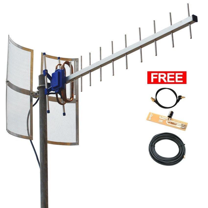 Antena Yagi BOLT ZTE MF90 - Penguat Sinyal 4G - Silver