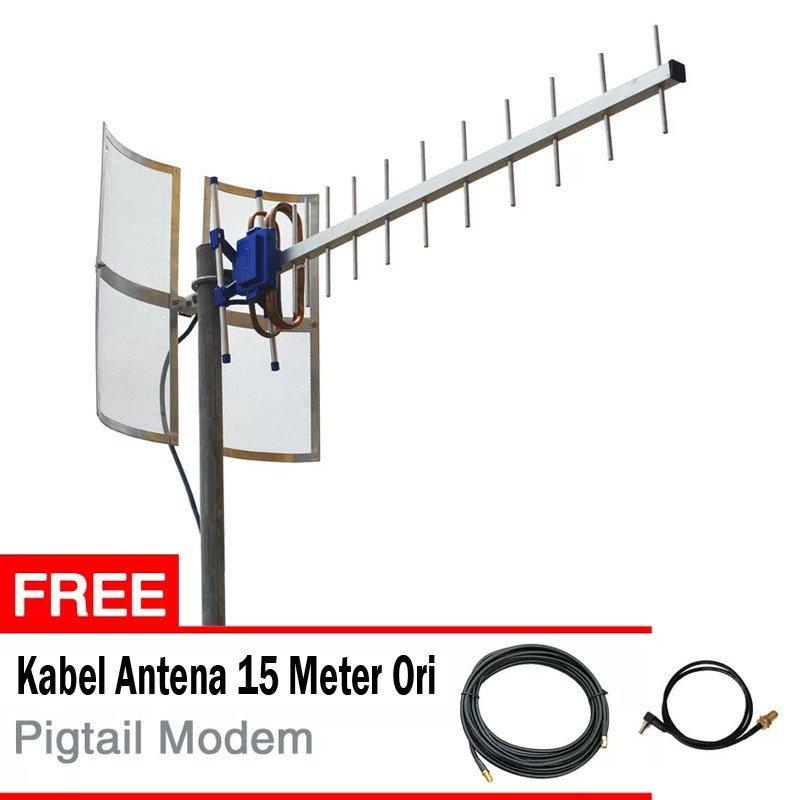Antena Yagi TXR175 Untuk Huawei E398 + Gratis Kabel Antena + Pigtail Modem