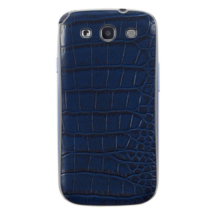 Anymode Folio Cover Croco Pattern - Samsung Galaxy S3 - Biru