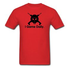AOSEN FASHION Creative Men's I Game Daily T-Shirts Red