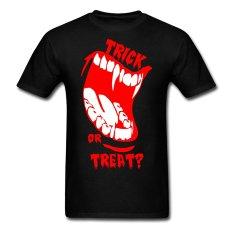 AOSEN FASHION Fashion Men's Trick Or Treat Halloween T-Shirts Black