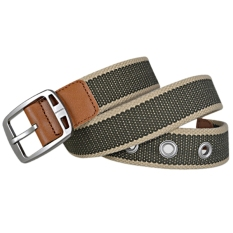 AOXINDA New Fashion Women & Men's Canvas Silver Pin Buckle Causual Belt 110cm - Khaki Army Green - Intl - Intl