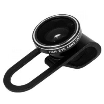 Apple Clip Fisheye Lens 180 Degree Edisi iPhone 5 - Hitam