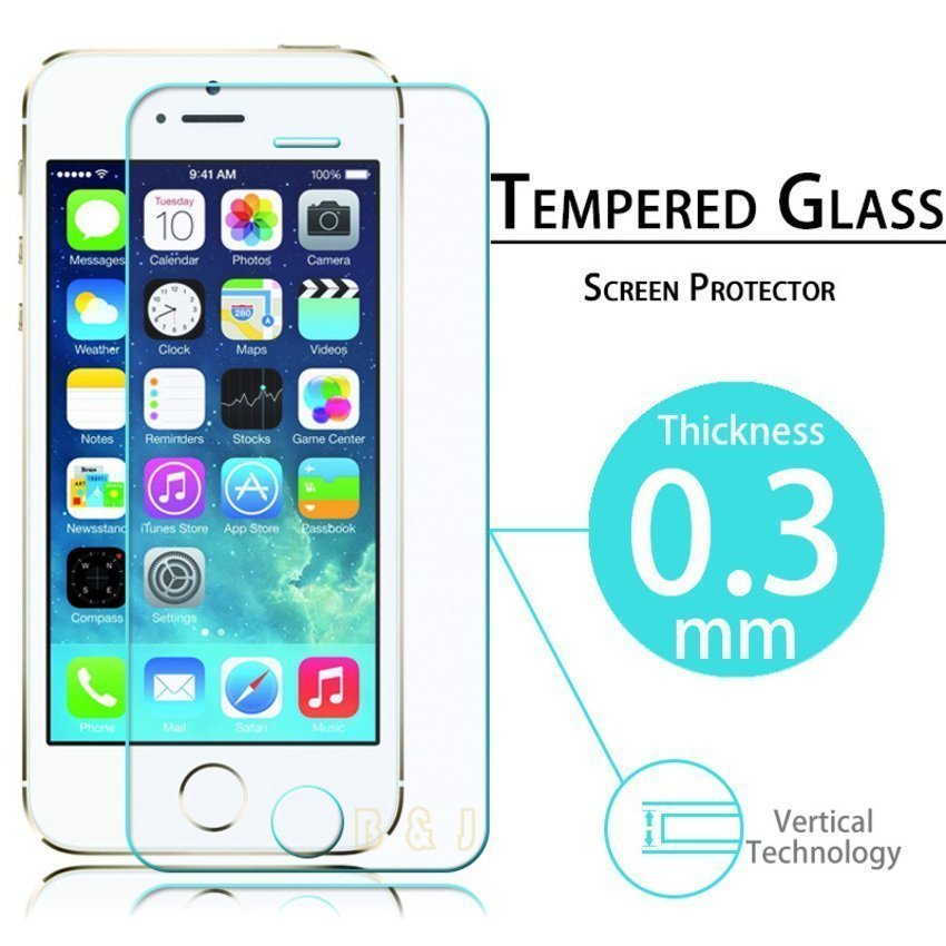 Apple Tempered Glass for iPhone SE / 5S / 5/s Free Anti Glare - Clear