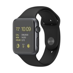 Apple Watch Space Gray Aluminium Case With Black Sport Band - 42 mm