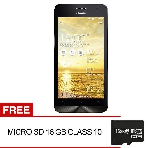 Asus Zenfone 4C ZC451CG - 2GB RAM - 8GB - Black+Bundling MMC 16GB CL10