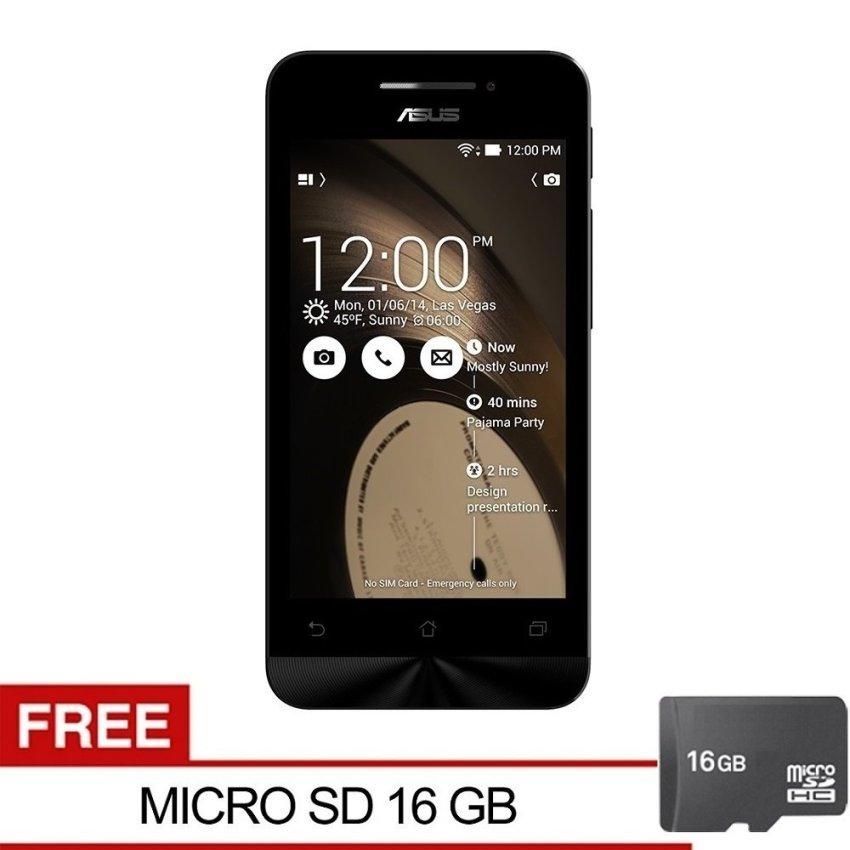 Asus Zenfone 4C ZC451CG - 2GB RAM - 8GB - Black + Gratis MMC16GB