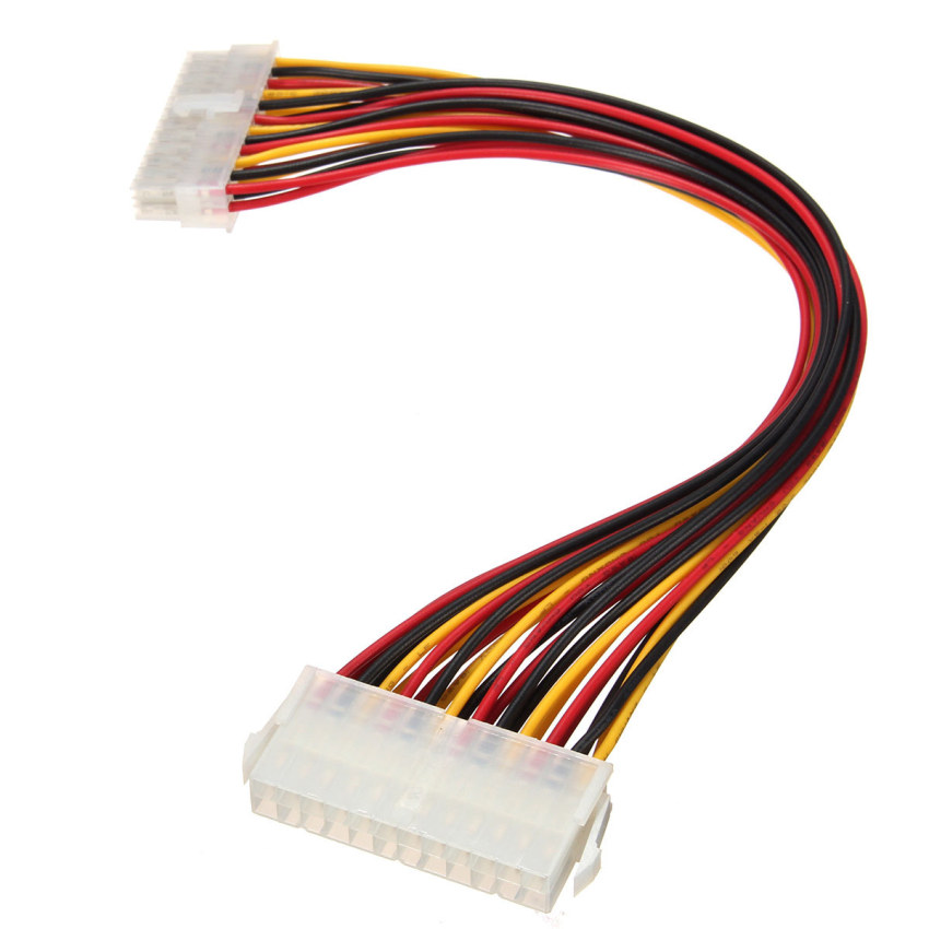 ATX 24 Pin Male to Female Extension Cable Internal PC PSU TW Power Lead 30CM (Intl)