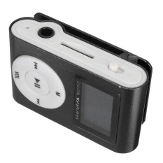 Audew Mini Practical USB Clip MP3 Player 32GB Micro SD Card LCD Radio Music Media Black (Intl)