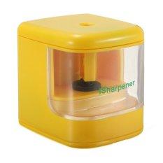 AUTO USB Battery Powered Desktop Electric Color Flash Pencil Sharpener LED Light (Intl)