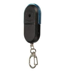 Autoleader Wireless Anti-Lost Alarm Key Finder Locator Keychain Whistle Sound LED Light Blue (Intl)