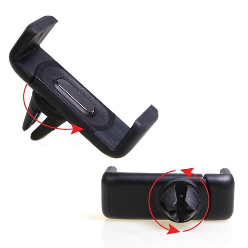 Automotive air conditioning vent bracket car phone holder portable tensile universal creative rotation (Intl)