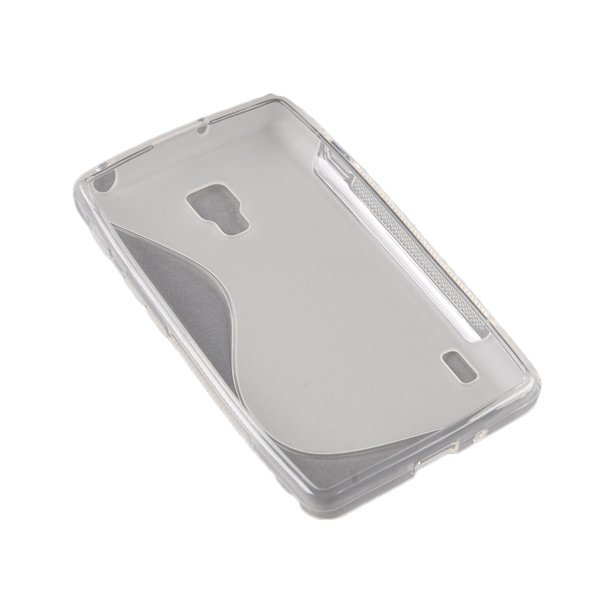 AZONE TPU Wave S-line Case Cover for LG Optimus L7 II P710 (White)