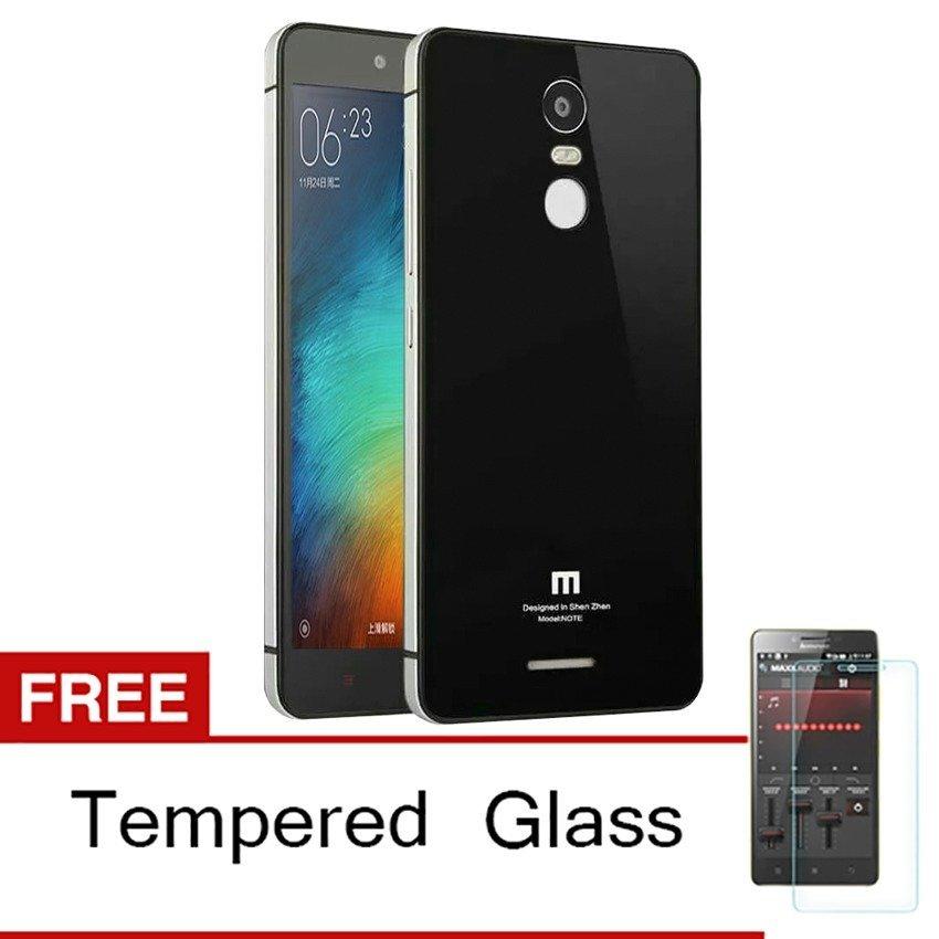 Back Case Dengan Tempered Glass Untuk Xiaomi Redmi Note 3 – Hitam + Gratis Tempered Glass