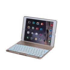 Backlight Bluetooth Keyboard Clamshell Case Aluminum Alloy Clavier For IPad Air (Gold) (INTL)