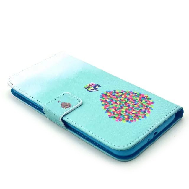 Balloon Design Leather Case for Samsung Galaxy S6 (Turquoise)
