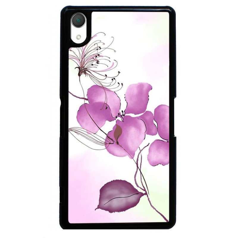 Beautiful Flower Painting Phone Case for SONY Xperia Z2 (Black)
