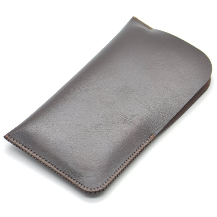 Belk iPhone 6 Pouch/Sleeve PU Leather Case for iPhone 6 Plus Brown
