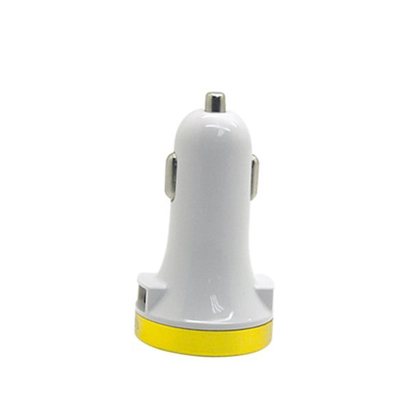 Best CT 3.1A-5V Side Slot Dual USB Super Car Charger  Putih/Kuning