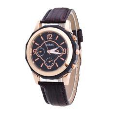 Bigskyie Luxury Brand Women Watches Leather Band Analog Quartz Wrist Watch Coffee Free Shipping