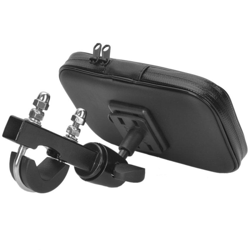 Bike Protective Water Resistant Bag w/ Mounting Holder for Cellphone / Navigator - Black