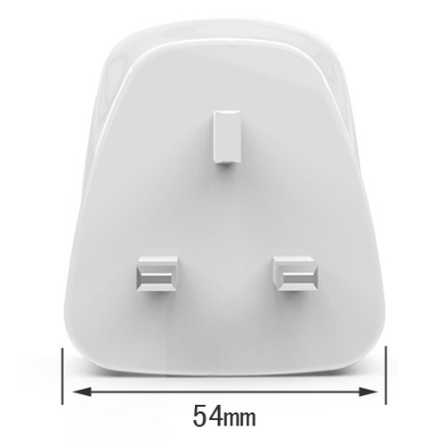 BILITONG UK Plug USB Charger Adapter with 4 USB Ports for iPhone 6 & 6 Plus, Samsung Galaxy S6 / S6 edge and Other Mobile Phones & Tablet PC(White)