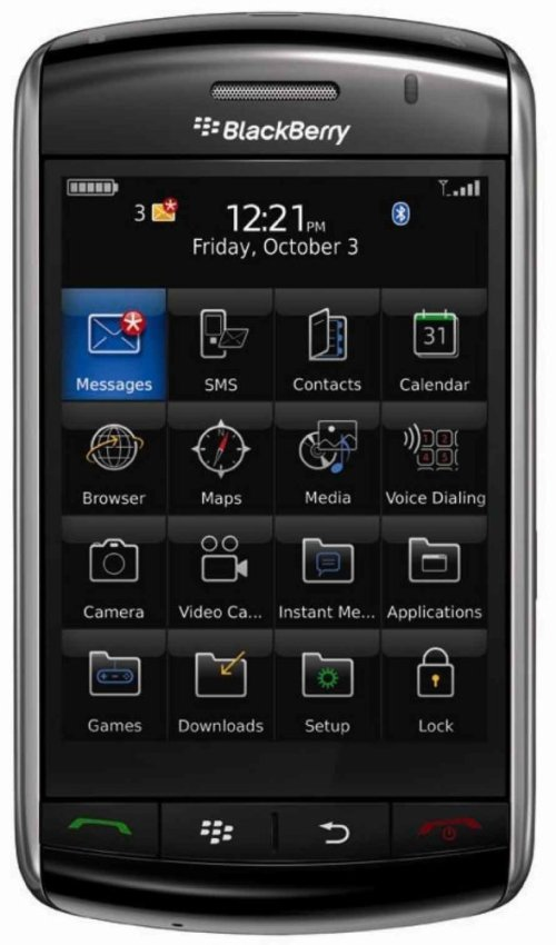 Blackberry 9500 - 1GB - Hitam