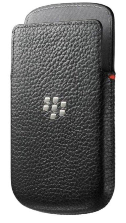 Blackberry Leather Pocket Q10 Royal - Hitam