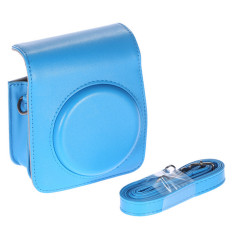 Blue PU Leather Classic Vintage Compact Camera Bag For Fujifilm Instax Mini 70 Instant Film Camera