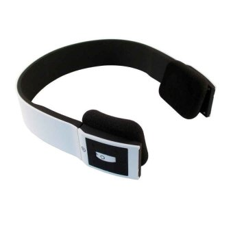 bluetooth headset two channel mp3 music headphone bth 401 white lazada. Black Bedroom Furniture Sets. Home Design Ideas