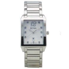 Bonia - Jam Tangan Wanita - Silver-Putih - Stainless Steel - B10012-1315