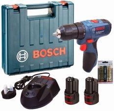 Bosch GSR 10802Li 2 Baterai + 10 Pcs Bor Obeng PH2 65mm