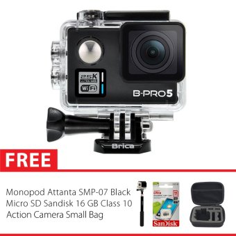 Brica BPro 5 Alpha Edition Combo Extreme Action Cam Small Bag  Hitam