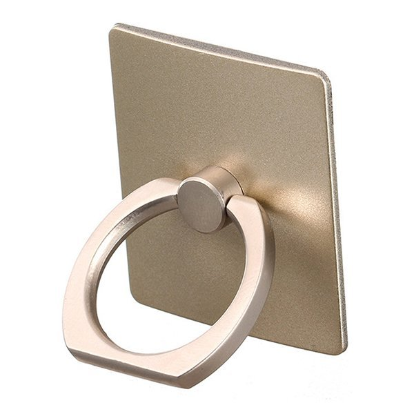 Broadfashion 360 Degree Finger Ring Sticky Mount Stand Holder for iPhone Andrews Phone Gold (Intl)