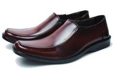 BSM Soga BFH 162 Sepatu Pantofel / Formal / Kerja Pria Kulit Asli - Elegan - Coklat