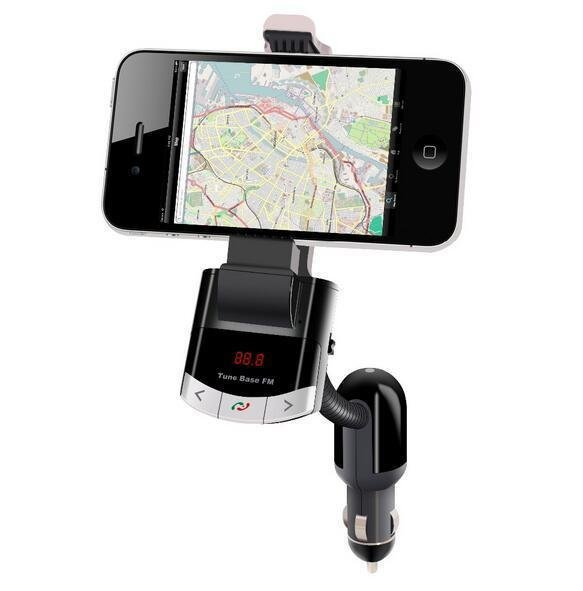 BT8118 Wireless Bluetooth FM Transmitter Radio Adapter MP3 Music Player Phone Car Kit Mount Holder Bracket With Handsfree Calling (Intl)