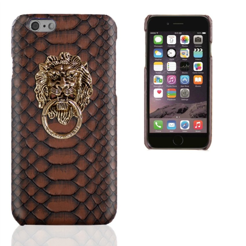 Business Style Luxury Leather Case for Apple Iphone 6 6S 4.7 inch (Brown) (Intl)