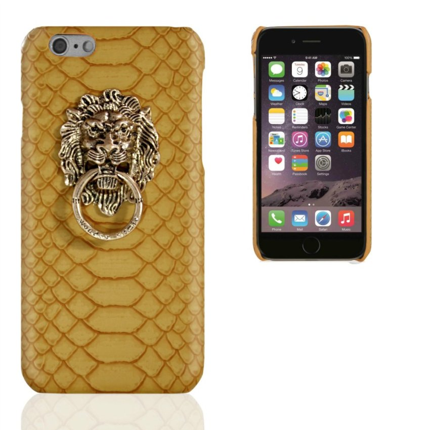Business Style Luxury Leather Case for Apple Iphone 6Plus/ 6S Plus 5.5nch (Gold) (Intl)