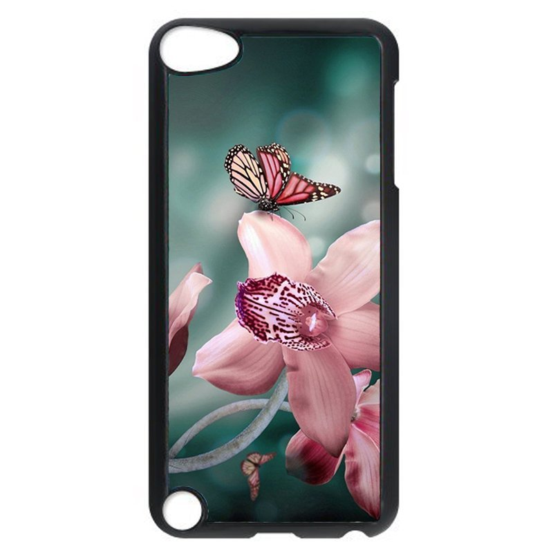 Butterfly And Flower Phone Case for iPod Touch 5 (Black)
