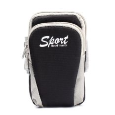 BUYINCOINS 5.5inch Running Jogging Cycling Sports Gym Money Pouch Arm Wrist Bag (Black) (Intl)