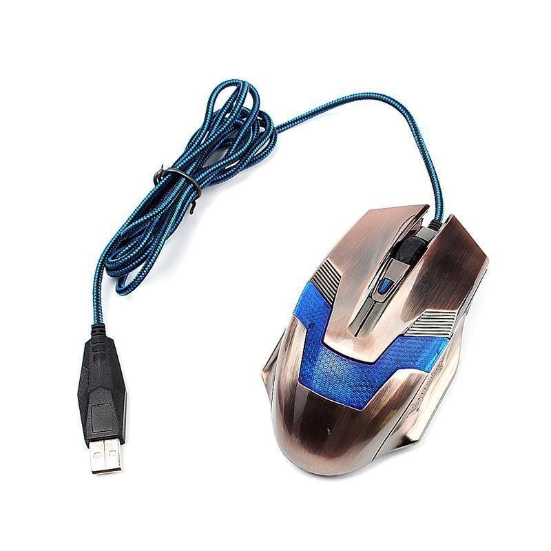 BUYINCOINS New Fashion 6D 4000DPI Wired Optical Gaming Mouse Mice for Laptop PC Desktop