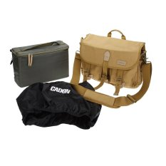 CADeN DSLR SLR Shockproof Camera Photography Protective Shoulder Carrying Canvas Messenger Vintage Bag Case For Sony Canon Nikon Olympus With Inner Bag Rain Cover (Intl)