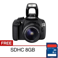 Canon EOS 1200D - 18 MP - Lensa Kit 18-55mm - Hitam + Gratis SDHC 8GB