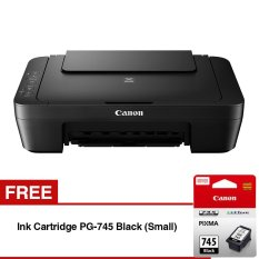 Canon MG2570S Multifunction Inkjet Printer - Hitam + Gratis Ink Cartridge PG-745 Small - Hitam