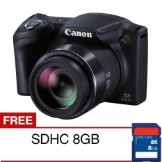 Canon PowerShot SX410 IS - 20 MP - Hitam + SD 8 GB