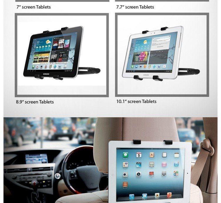 Capdase car headrest ipad hitam