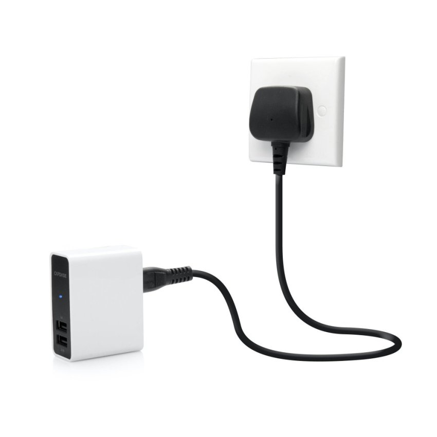 Capdase Charger Dual USB Power Adapter Ampo R2 - Putih